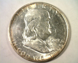 1949-S FRANKLIN HALF DOLLAR CHOICE ABOUT UNCIRCULATED CH. AU NICE ORIGIN... - $55.00
