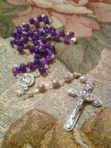 Purple Hearts and Roses Rosary - $21.45