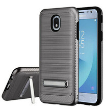 Space Gray Fiber Accent Hybrid Case for SAMSUNG Galaxy J3 V 2018/Star/Ac... - $11.07