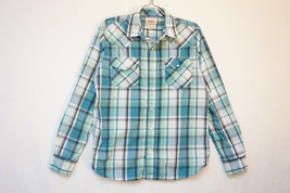 Levi's Western Midweight Snap-Button-Front Shirt, Plaid, Men's Small 8535 - £8.41 GBP