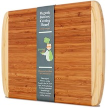 Wooden Chopping Board Butcher Block w/ Juice Groove for Carving Meat And... - $34.97 CAD