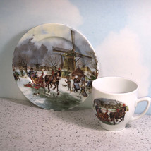 ROYAL SCHWABAP TEA CUP saucer Holland 1984 ter steege windmill porcelain... - $34.60