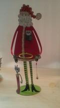 "15"" Santa Claus Metal Tea Light Candle Holder - $20.41"
