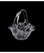 Vintage Flower Basket Bowl by Tiara Glassware Signed JT John Thompson In... - $35.00