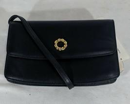 VP VINTAGE 1990's Antonio Scepi Chic Navy Blue Leather Crossbody Bag Pur... - $13.99