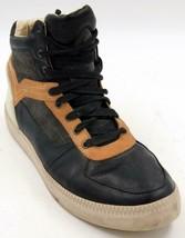 Diesel S-Spaark Mid-Top Men's Black/Brown Casual Lace Up  Leather Sneakers SZ 13 - $61.74