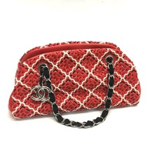 AUTHENTIC CHANEL Coco Bowling Mademoiselle Chain Shoulder Bag Red Patent... - $1,275.00