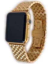 24K Gold Plated 42MM Apple Watch Gen 1 24K gold Links Butterfly Band - $759.08