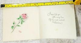 "OLD VINTAGE ""FOR MY VALENTINE"" VALENTINE'S DAY CARD, GOOD COLOR! image 4"