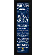 "Personalized Northern Colorado ""Bears"" 24 x 8 Family Cheer Framed Print - $39.95"
