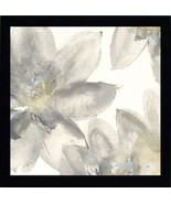 Gray and Silver Flowers II Framed Art - $35.00