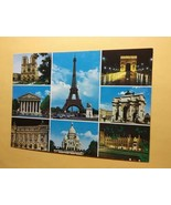 Vintage Paris France Postcard With A 8 Photo Collage Printed By OVET       - $0.99