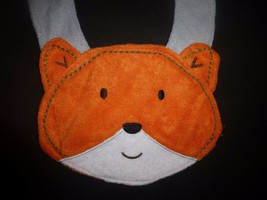 NEW Carter's Orange Fox Baby Boys Terry Cloth Teething Drool Bib image 2