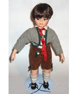 Swiss Alps type outfit  --   Porcelain/Cloth Doll -  Boy doll   -  aprox... - $22.00