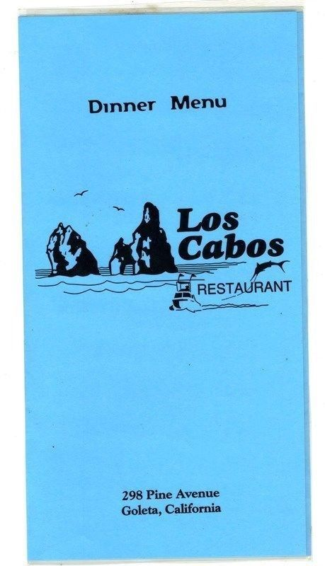 Primary image for Los Cabos Mexican Restaurant Dinner Menu Pine Avenue in Goleta California