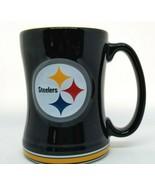 2014 Pittsburgh STEELERS Coffee Cup Mug Boelter brands NFL Black Yellow - $14.95