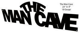 Silhouette The Man Cave Laser Cut Out Sign 9x23 - $27.72