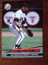 1992 Fleer Ultra Matt Williams San Francisco Giants #296 Baseball Card - $2.23