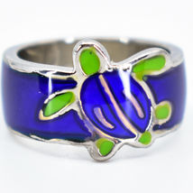 Cute Sea Turtle Two-Tone Children's Color Changing Fashion Mood Ring image 5