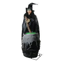Northlight 5.5' Touch Activated Lighted Stirring Witch Animated Hallowee... - $176.95