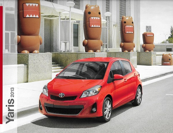 Primary image for 2013 Toyota YARIS sales brochure catalog 13 US L LE SE Domo