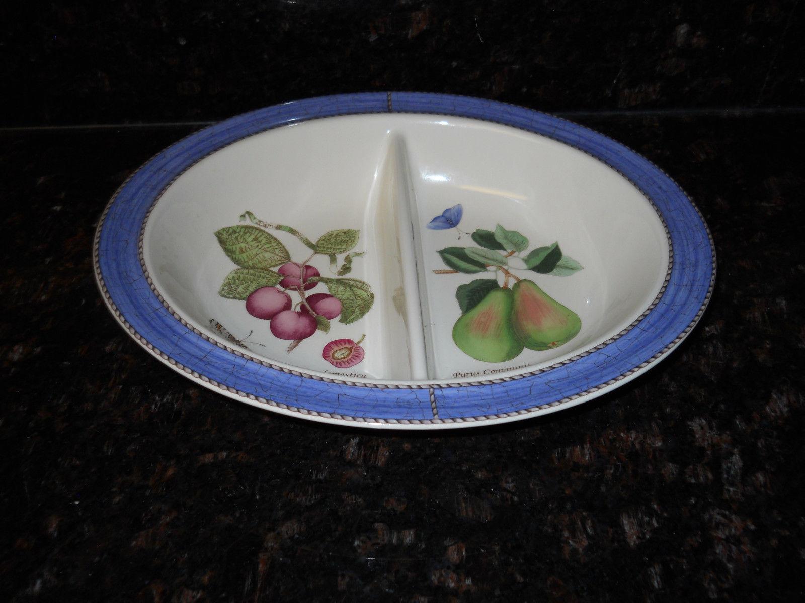 Wedgwood Sarah's garden divided oval serving bowl