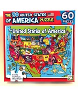 Jigsaw Puzzle The 50 United States of America, Capitals Included 60 Pieces - $5.93