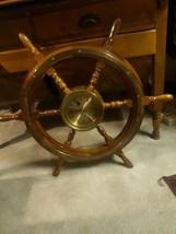 "Ship's Time Steering Wheel Mass Captain's Clock 30"" - $321.75"