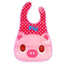 2 Pcs Colorful Pig Pattern Showerproof Comfortable Baby Bib/Pinafore for Baby image 2