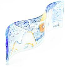 Fused Art Glass Arctic Polar Bear Winter Wavy Decor Sun Catcher Handmade Ecuador image 3