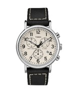 Timex Men and #39;s Weekender Chronograph 40mm Watch - White Dial/Black ... - $66.39