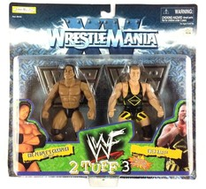 The Rock Owen Hart WWF 2 Tuff Series 3 WWE Jakks Action Figures 1998 Sealed - $29.65