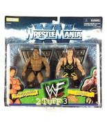 The Rock Owen Hart WWF 2 Tuff Series 3 WWE Jakks Action Figures 1998 Sealed - $29.65
