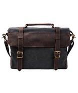 S-ZONE Canvas Messenger Bag 14 Inch Shoulder Bag Satchel School Briefcase - $41.61