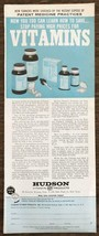 1963 Hudson Vitamin Products Print Ad New Yorkers Were Shocked By Recent... - $11.69