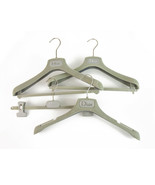 Set of 4 Christian Dior Light Gray Plastic Hangers with printed Logo - $69.30