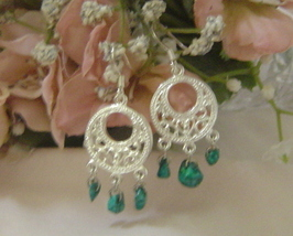 Handcrafted Turquoise Earrings New - $8.99