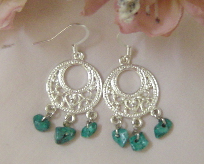 Handcrafted Turquoise Earrings New