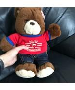 Vanity Fair Factory Outlet Denim Jeans Mr. Lee Teddy Bear Plush Stuffed ... - $99.99