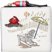 Tory Burch embroidered mini wallet East Coast Beach ~NWT - $123.75