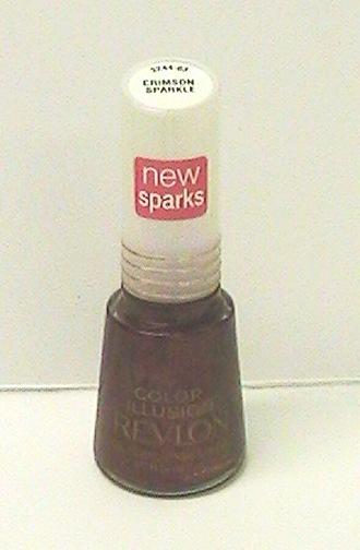 Revlon Nail Enamel, CRIMSON SPARKLE # 3244-03, .5 Fl Oz