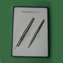 Waterman Fountain Pen and Ballpoin Pen Set Chrome Comes with 2 ink cartr... - $58.15