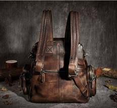 Sale, Vintage Leather Women Backpack, Leather School Backpack, Leather Designer  image 4
