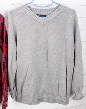 Old Navy Plaid Button Down Shirt + Gap Kids Sweater Boys Size S 6-7 Holiday Set image 3