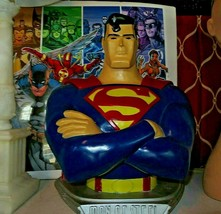 """Rare Superman - Man of Steel Large and Heavy Colorful Bust DC Comics 1997 18"""" - £150.26 GBP"""