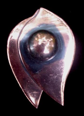 Vintage 1940's Classy Burnt Copper Modernist Retro Pin