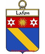 LAFON French Coat of Arms Print LAFON Family Crest - $25.00