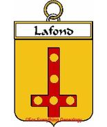 LAFOND French Coat of Arms Print LAFOND Family ... - $25.00