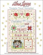 Doggie Dear Sampler cross stitch chart Alma Lynne Originals - $6.50