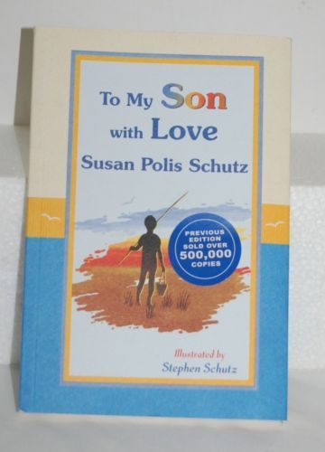 Son With Love Author Susan Polis Schutz Blue Orange Tan Colored Book B4645
